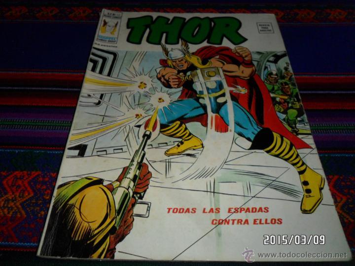 VÉRTICE VOL. 2 THOR Nº 12. 35 PTS. 1975. TODAS LAS ESPADAS CONTRA ELLOS. BUEN ESTADO Y DIFÍCIL!!! (Tebeos y Comics - Vértice - Thor)