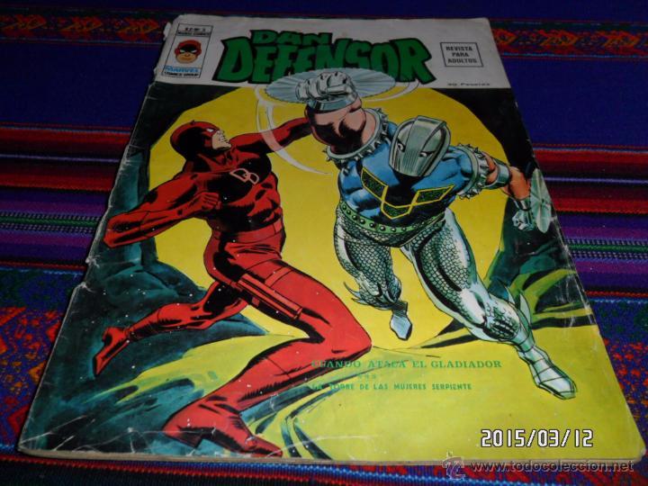 VÉRTICE VOL. 2 DAN DEFENSOR Nº 3. 30 PTS. 1975. CUANDO ATACA EL GLADIADOR. DIFÍCIL!!!!!!!!!! (Tebeos y Comics - Vértice - Dan Defensor)
