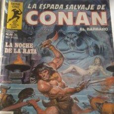 Cómics: LA NOCHE DE LA RATA. LA ESPADA SALVAJE DE CONAN EL BARBARO. Nº 36. EST1B3. Lote 48374394