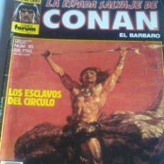 Cómics: LOS ESCLAVOS DEL CIRCULO. LA ESPADA SALVAJE DE CONAN EL BARBARO. Nº 85. EST1B3. Lote 48374494