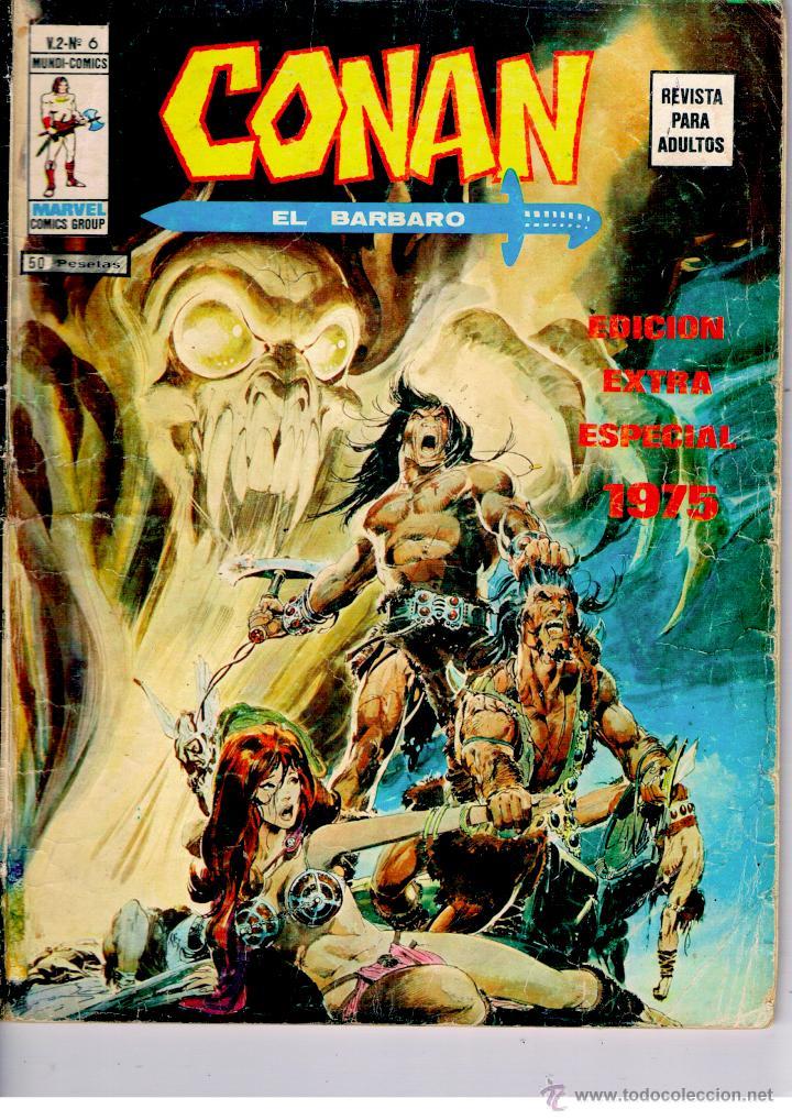 CONAN EL BARBARO. VERTICE V.2. Nº 6. BUEN ESTADO. -EXTRA ESPECIAL 1975-. DIFICIL (Tebeos y Comics - Vértice - V.2)