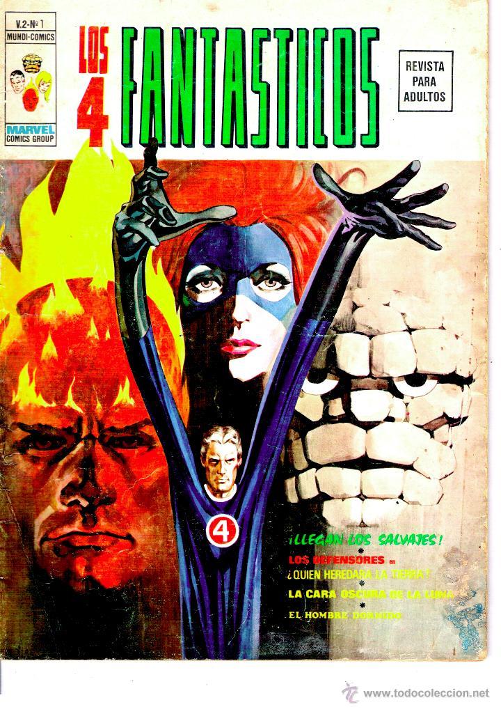 LOS 4 FANTASTICOS. VERTICE V.2. Nº 1.-LLEGAN LOS SALVAJES-. MUY DIFICIL (Tebeos y Comics - Vértice - V.2)