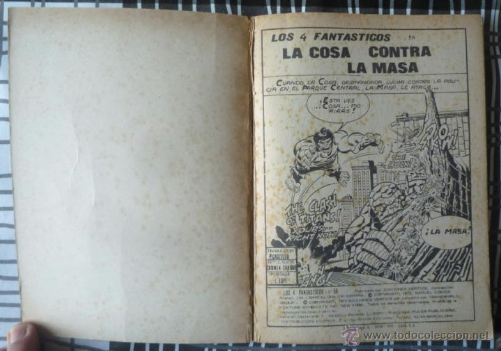 Cómics: LOS 4 FANTASTICOS V.1 Nº 56 - Foto 4 - 48841291