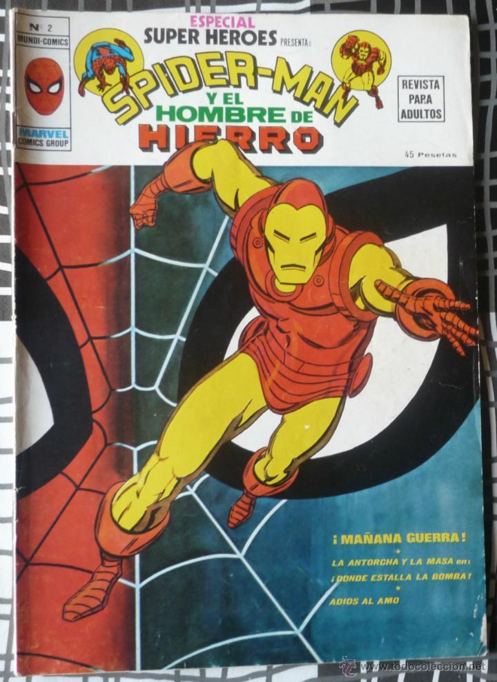 ESPECIAL SUPER HEROES Nº 2 - SPIDERMAN Y EL HOMBRE DE HIERRO (Tebeos y Comics - Vértice - Super Héroes)
