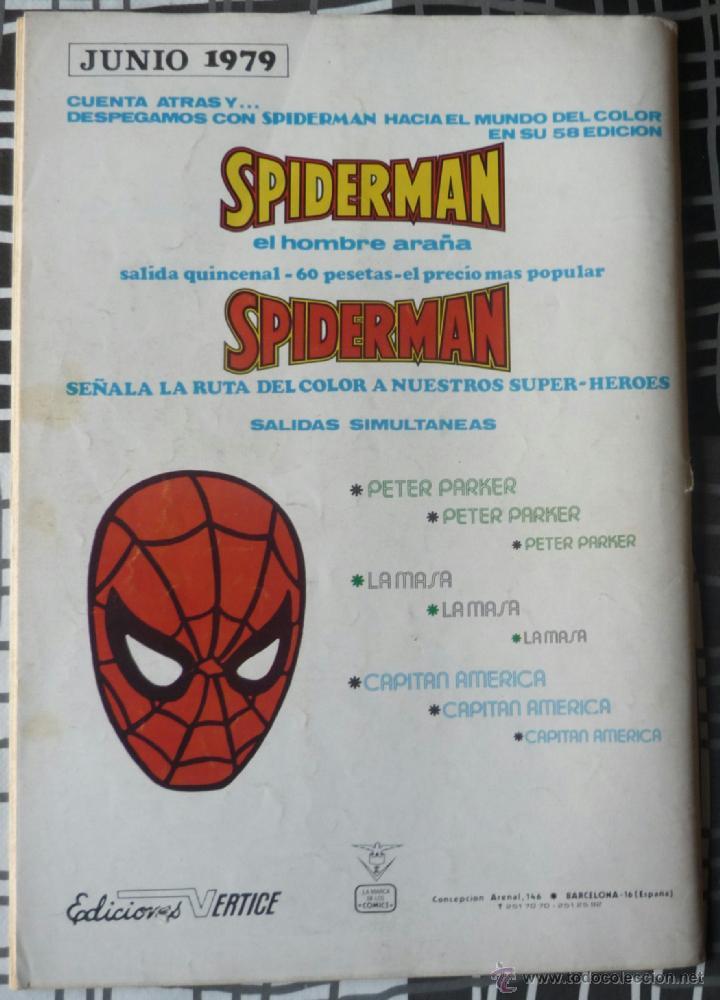 Cómics: ESPECIAL SUPER HEROES Nº 2 - SPIDERMAN Y EL HOMBRE DE HIERRO - Foto 2 - 48854173