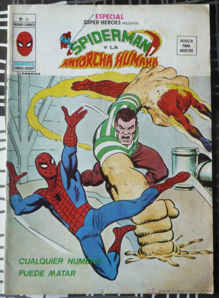 ESPECIAL SUPER HEROES Nº 14 - SPIDERMAN Y LA ANTORCHA HUMANA (Tebeos y Comics - Vértice - Super Héroes)