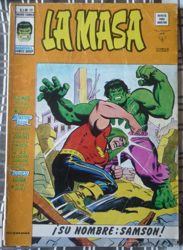LA MASA V.3 Nº 20 (Tebeos y Comics - Vértice - La Masa)