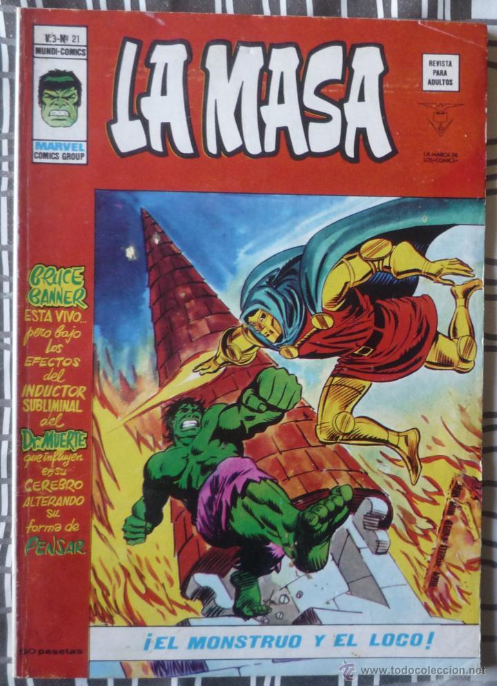 LA MASA V.3 Nº 21 (Tebeos y Comics - Vértice - La Masa)
