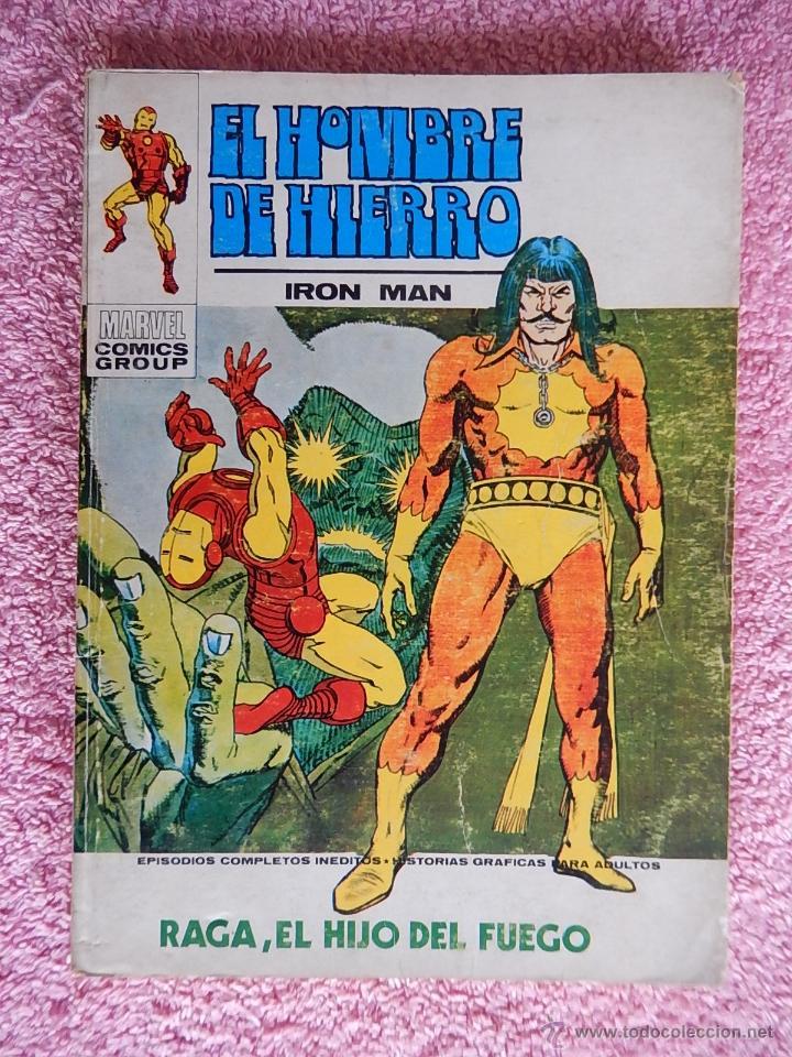 EL HOMBRE DE HIERRO 27 EDICIONES VERTICE 1973 RAGA EL HIJO DEL FUEGO VOL 1 25 PESETAS (Tebeos y Comics - Vértice - Hombre de Hierro)