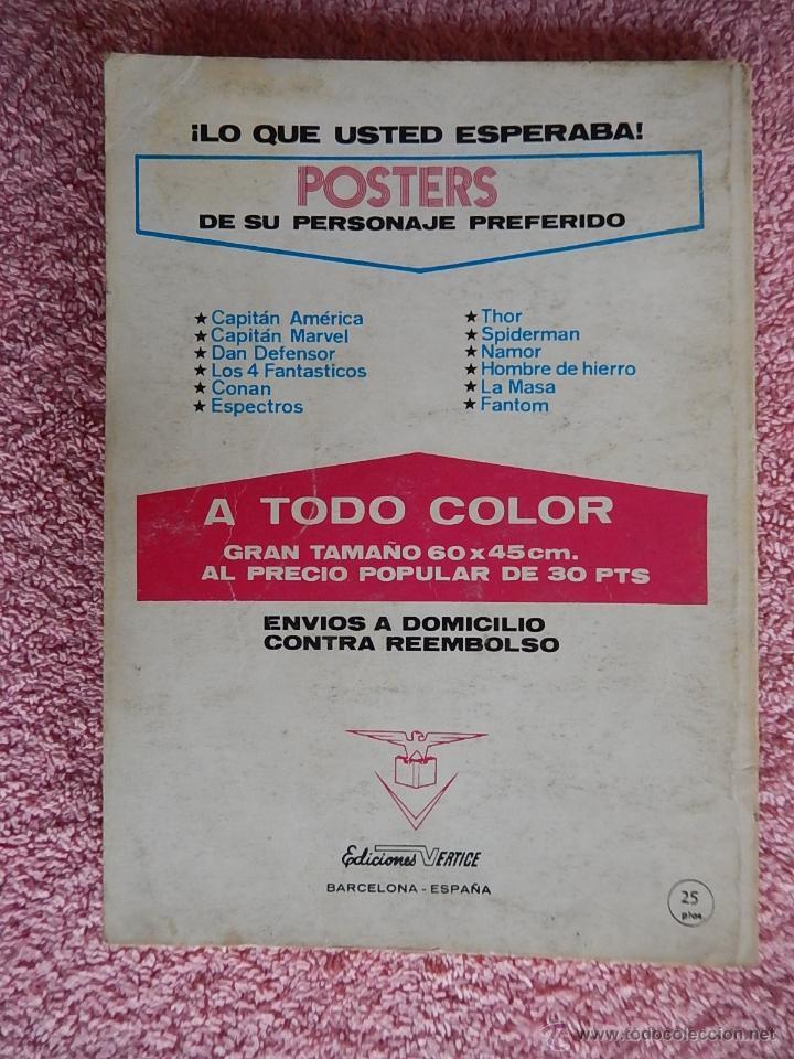Cómics: el hombre de hierro 27 ediciones vertice 1973 raga el hijo del fuego vol 1 25 pesetas - Foto 6 - 48927244