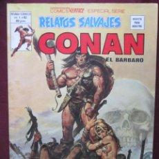 Cómics: RELATOS SALVAJES Nº 83. V.1. CONAN EL BARBARO. EL TESORO DE TRANICOS VERTICE 1980 TEBENI MBE. Lote 48986566