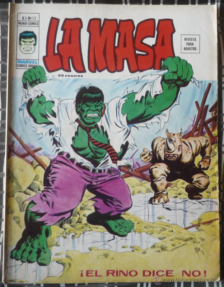 LA MASA V.3 Nº 12 (Tebeos y Comics - Vértice - La Masa)