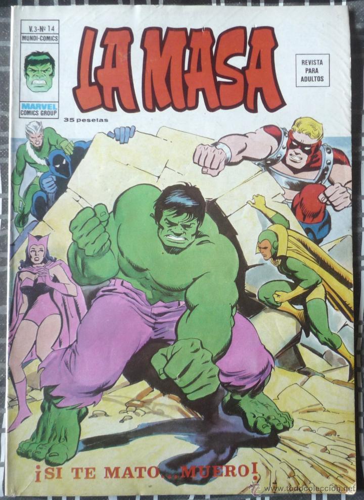 LA MASA V.3 Nº 14 (Tebeos y Comics - Vértice - La Masa)