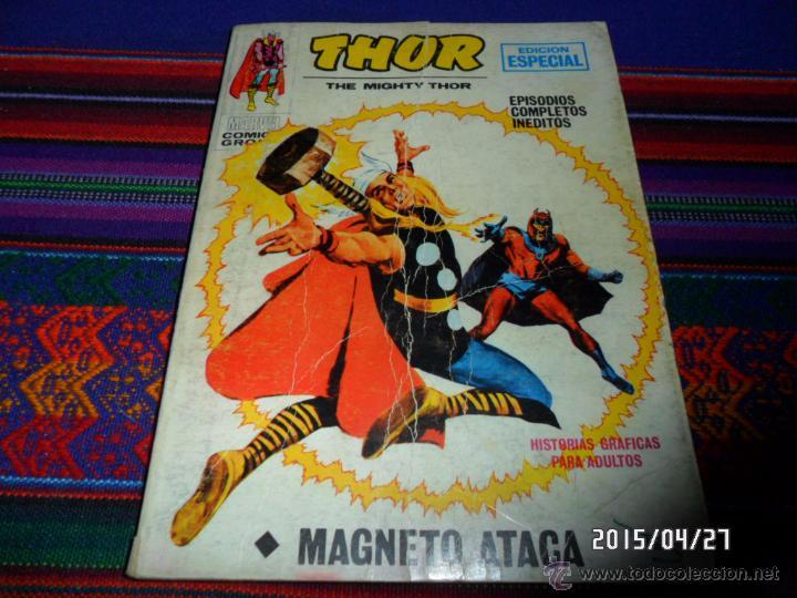 VÉRTICE VOL. 1 THOR Nº 13. 1971. 25 PTS. MAGNETO ATACA. (Tebeos y Comics - Vértice - Thor)