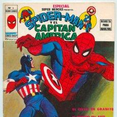 Comics : MUNDI-COMICS - Nº 5 - ESPECIAL SUPER HEROES - SPIDERMAN Y EL CAPITÁN AMÉRICA - ED. VERTICE - 1980. Lote 49140162
