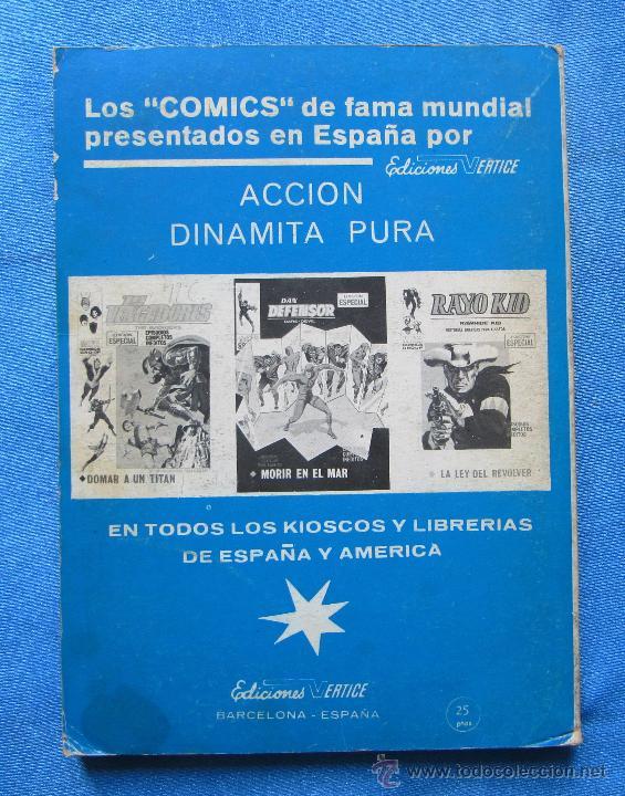 Cómics: PATRULLA X. X - MEN. GUERRA EN EL MUNDO INFERIOR. EDICIONES VERTICE, 1972. - Foto 3 - 49215787