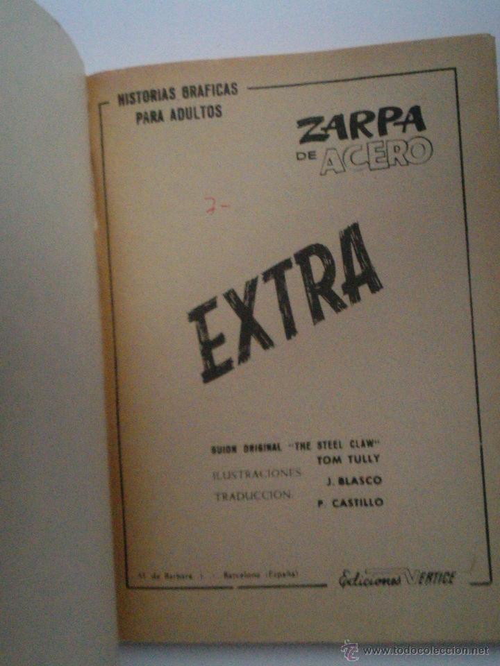 Cómics: ZARPA DE ACERO EXTRA - NUMERO 3- VOLUMEN 1 - VÉRTICE - 1ª EDICION - CJ 114 - gorbaud - Foto 2 - 49377638