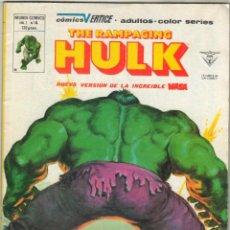 Cómics: THE RAMPAGING HULK - LA MASA Nº 14 - TEMPORADA DE TERROR - CABALLERO LUNA - VERTICE 1980. Lote 49469610