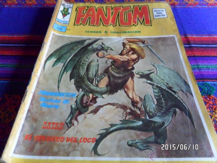 VÉRTICE VOL. 2 FANTOM Nº 8 CON FRANKENSTEIN. 1975. 50 PTS. (Tebeos y Comics - Vértice - Terror)