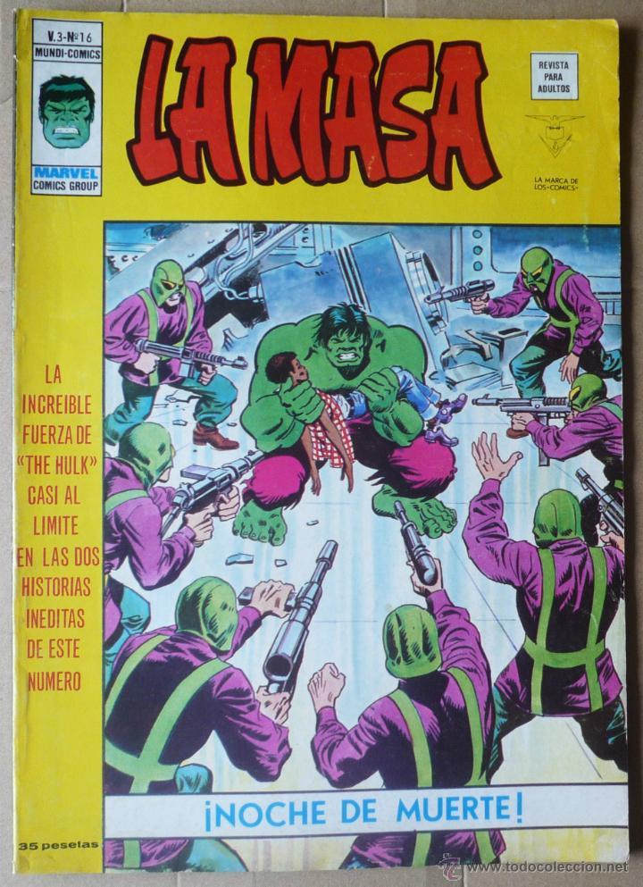 LA MASA. V3 Nº 16. EN EXCELENTE ESTADO (Tebeos y Comics - Vértice - La Masa)