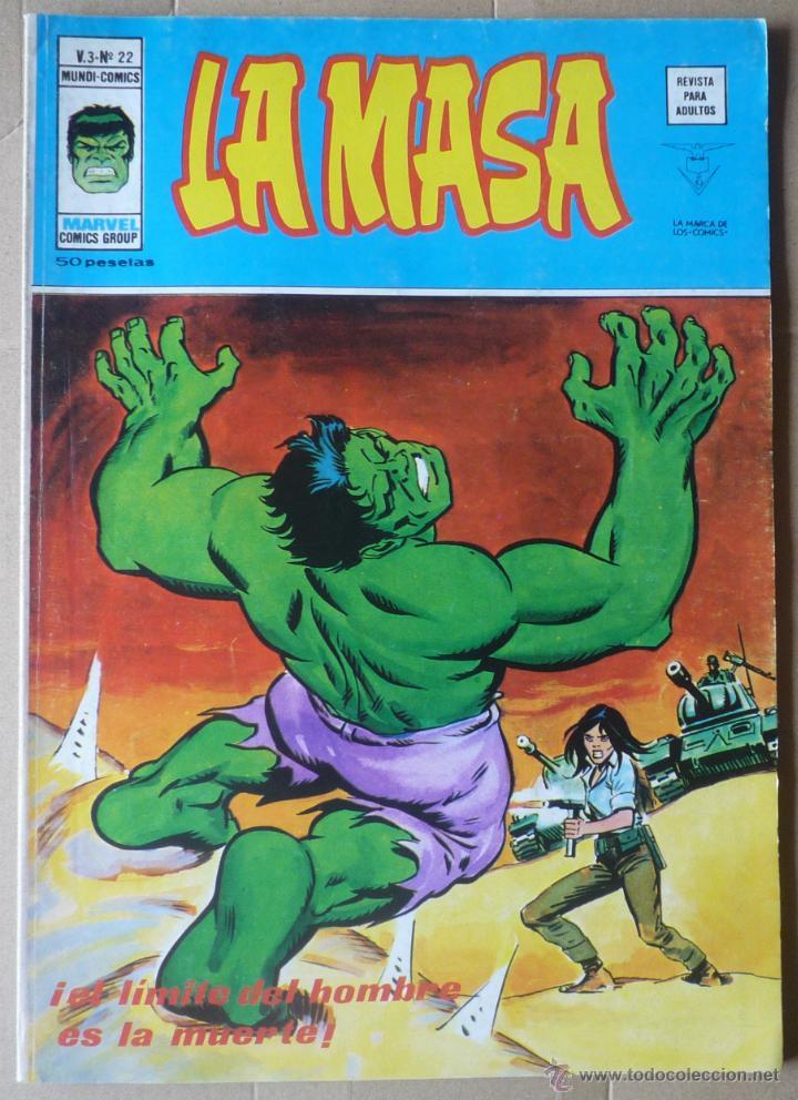 LA MASA. V3 Nº 22. EN EXCELENTE ESTADO (Tebeos y Comics - Vértice - La Masa)
