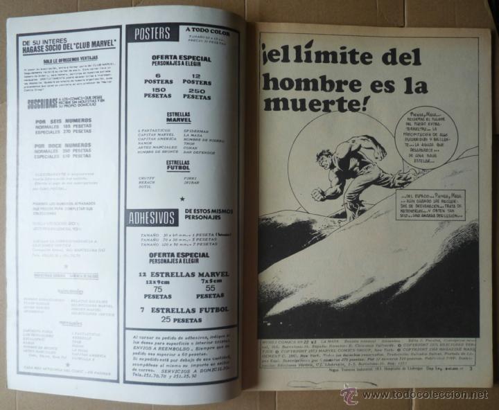 Cómics: LA MASA. V3 Nº 22. EN EXCELENTE ESTADO - Foto 3 - 49872175