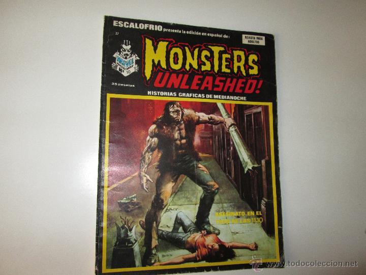 VERTICE ~ ESCALOFRIO ~ MONSTERS UNLEASHED Nº37 (Tebeos y Comics - Vértice - Terror)