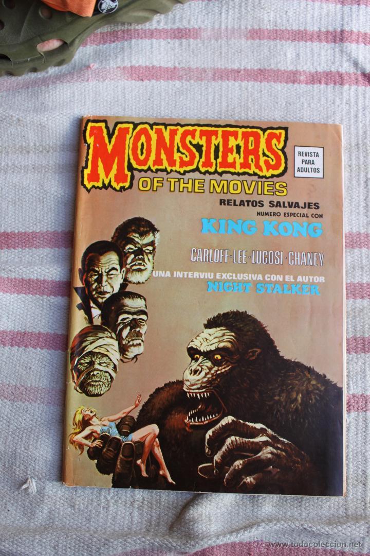 RELATOS SALVAJES MONSTERS OF THE MOVIES : NUMERO ESPECIAL CON KING KONG (Tebeos y Comics - Vértice - Relatos Salvajes)