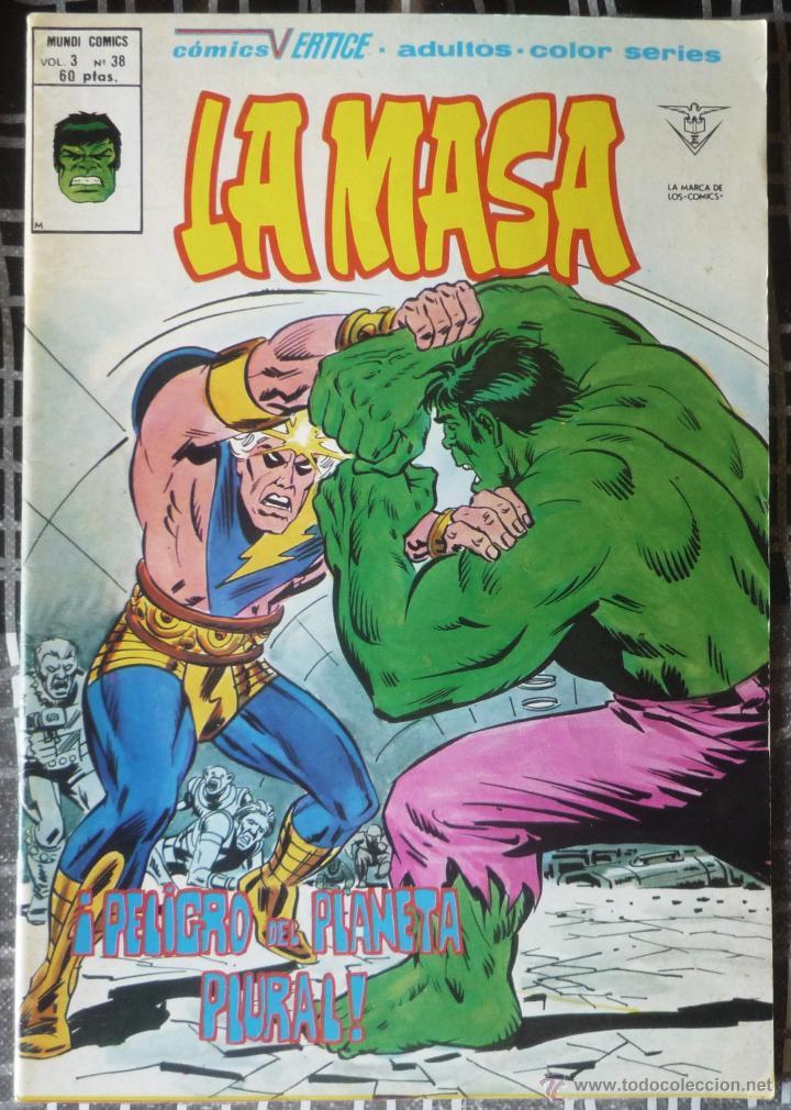 LA MASA V.3 - Nº 38. EN EXCELENTE ESTADO (Tebeos y Comics - Vértice - La Masa)