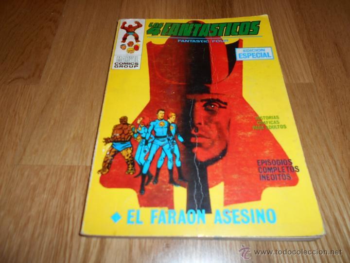 LOS 4 FANTASTICOS Nº 10 VERTICE - EL FARAON ASESINO- 1970 B.E. (Tebeos y Comics - Vértice - 4 Fantásticos)