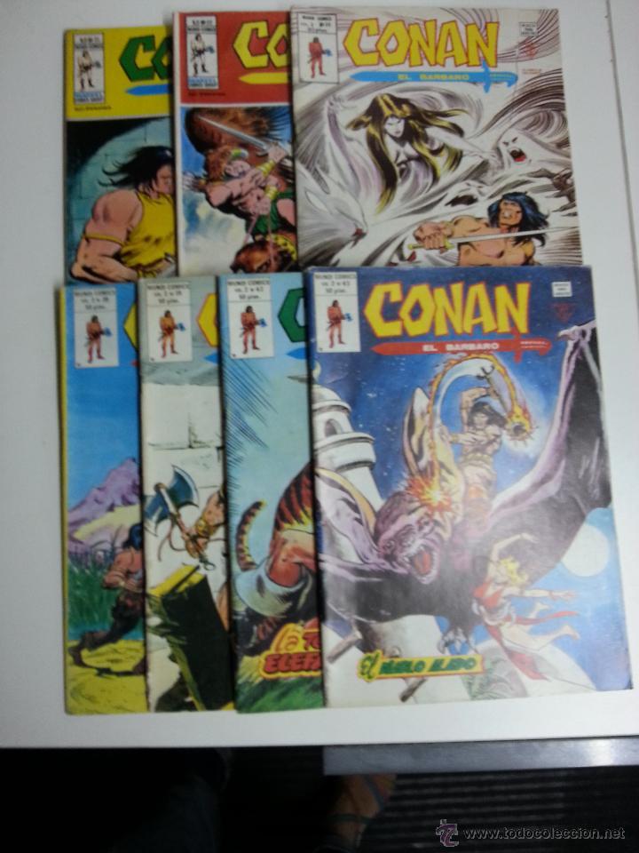 CONAN EL BARBARO VOL. 2 LOTE DE 7 Nº 21-22-36-38-39-42-43 (Tebeos y Comics - Vértice - Conan)
