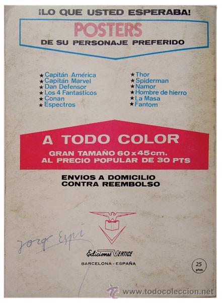 Cómics: Contraportada - Foto 2 - 50753896