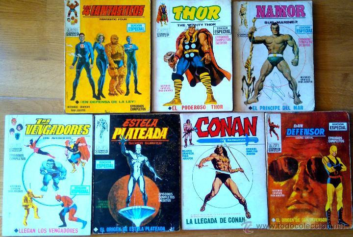 VERTICE V. TODOS Nº 1 LOS 4 FANTASTICOS,LOS VENGADORES,ESTELA PLATEADA,CONAN,DAN DEFENSOR,THOR,NAMOR (Tebeos y Comics - Vértice - V.1)