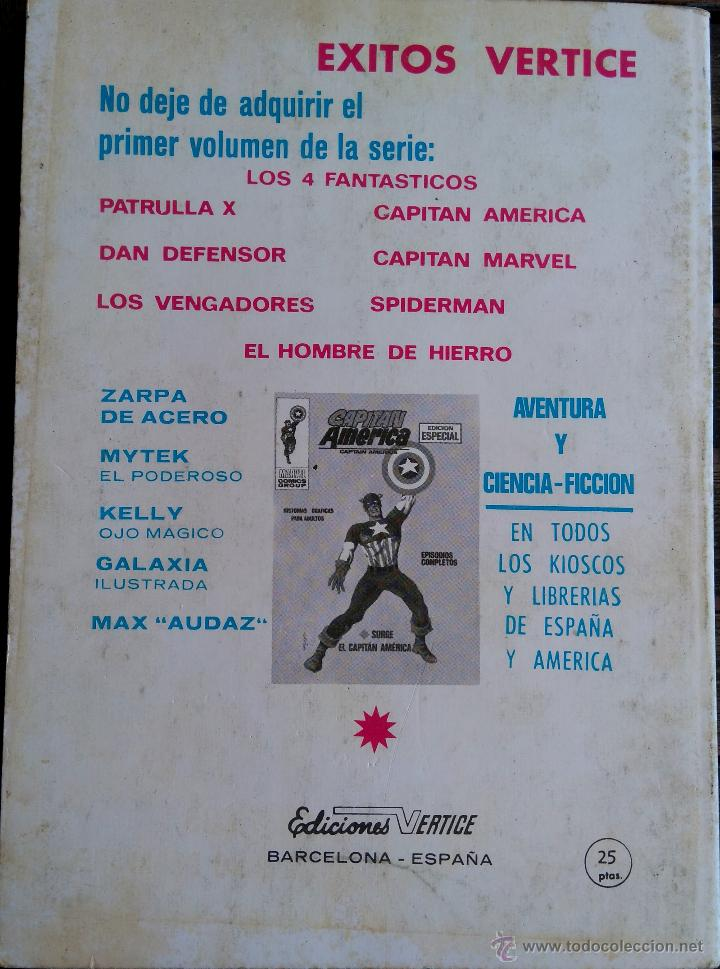 Cómics: VERTICE V. TODOS Nº 1 LOS 4 FANTASTICOS,LOS VENGADORES,ESTELA PLATEADA,CONAN,DAN DEFENSOR,THOR,NAMOR - Foto 13 - 50761159