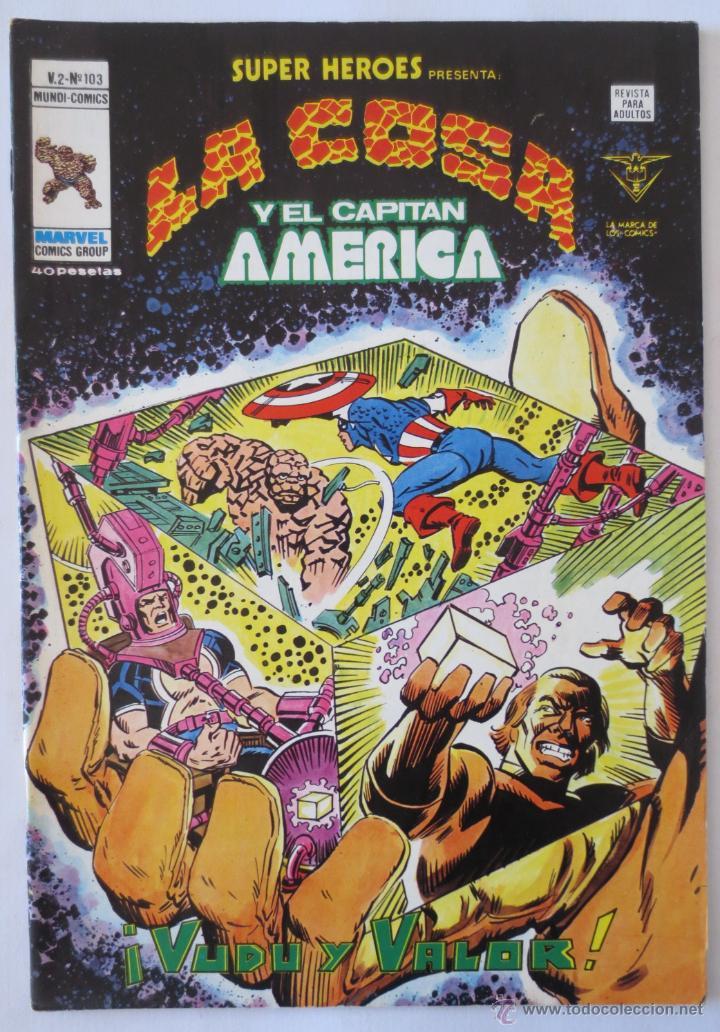 LA COSA Y EL CAPITAN AMERICA VOL 2 Nº 103 VERTICE (Tebeos y Comics - Vértice - Super Héroes)