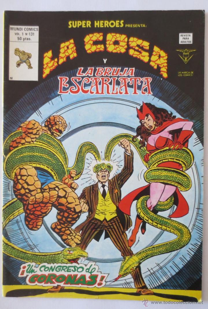 LA COSA Y LA BRUJA ESCARLATA (Tebeos y Comics - Vértice - Super Héroes)