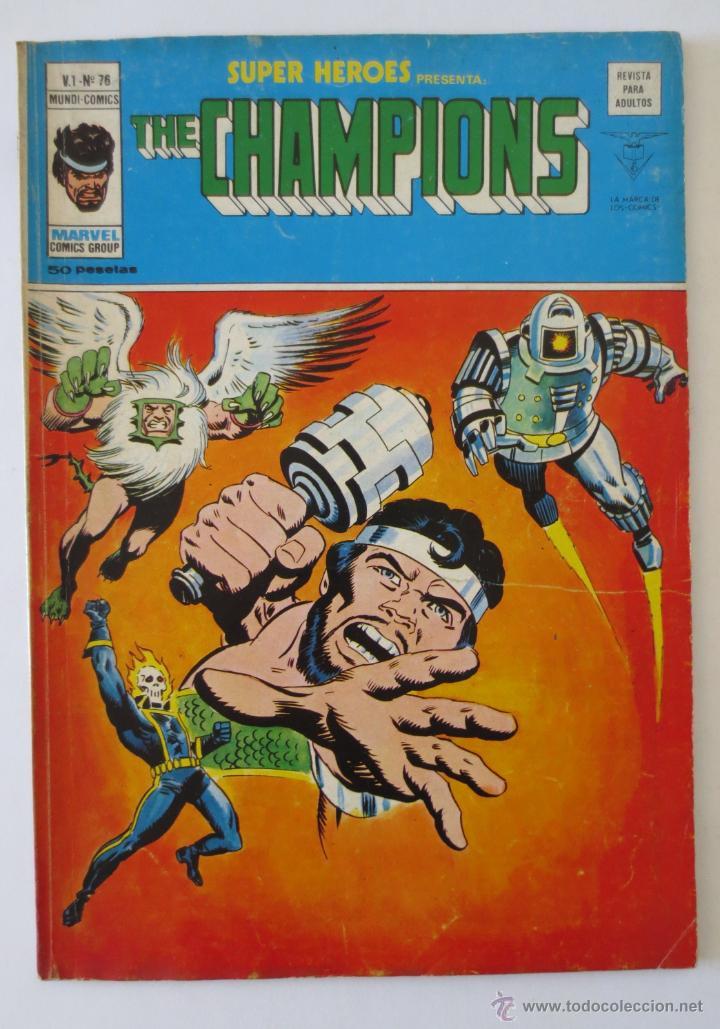 THE CHAMPIONS V 1 Nº 76 VERTICE (Tebeos y Comics - Vértice - Super Héroes)
