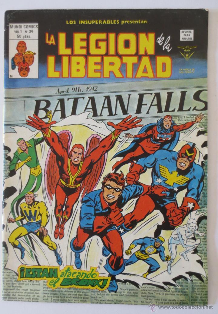 LA LEGION DE LA LIBERTAD VOL 1 Nº 34 VERTICE (Tebeos y Comics - Vértice - Super Héroes)