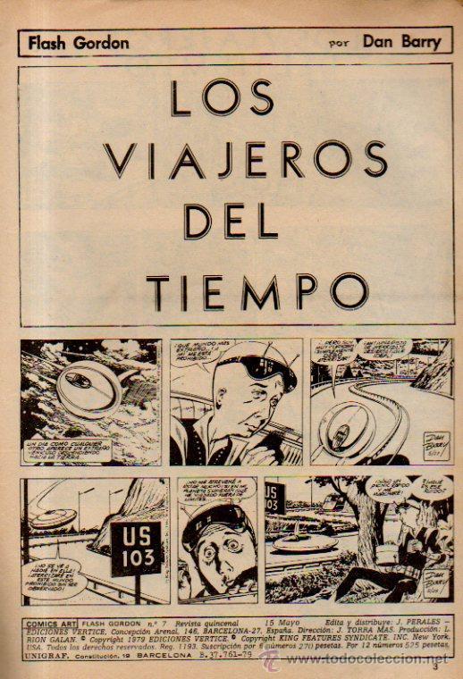 Cómics: FLASH GORDON. LOS VIAJEROS DEL TIEMPO - CÓMICS ART. VOLUMEN 2. Nº7. EDICIONES VÉRTICE, 1979 - Foto 2 - 51719726