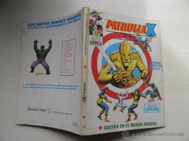 TEBEO DE LA PATRULLA X (Tebeos y Comics - Vértice - Patrulla X)