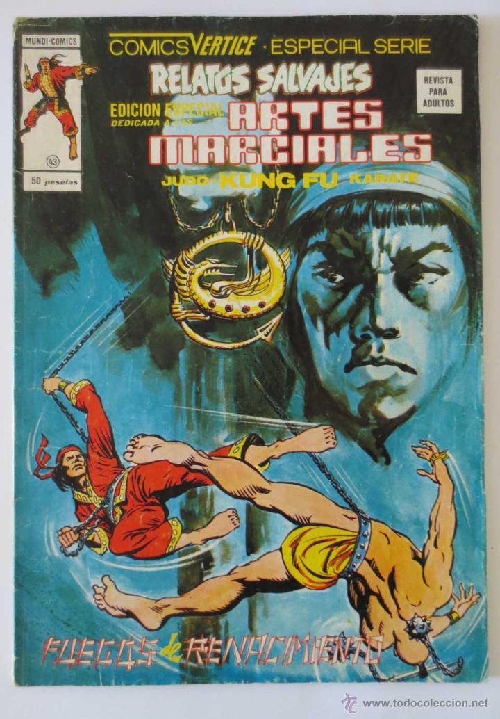RELATOS SALVAJES ARTES MARCIALES Nº 43 VERTICE (Tebeos y Comics - Vértice - Relatos Salvajes)