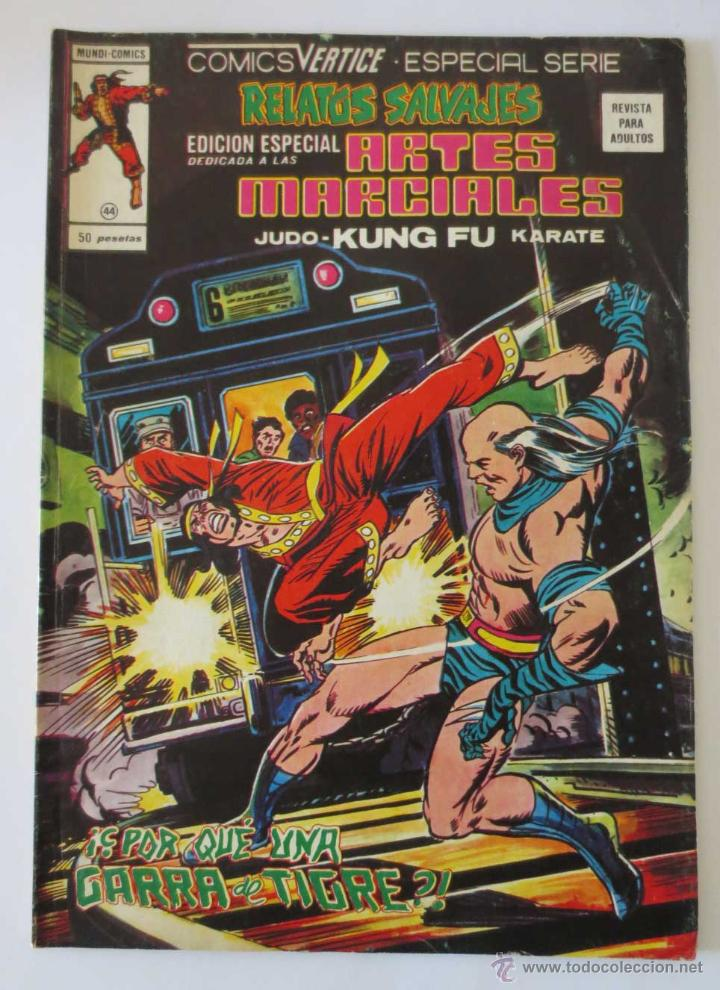 RELATOS SALVAJES ARTES MARCIALES Nº 44 VERTICE (Tebeos y Comics - Vértice - Relatos Salvajes)