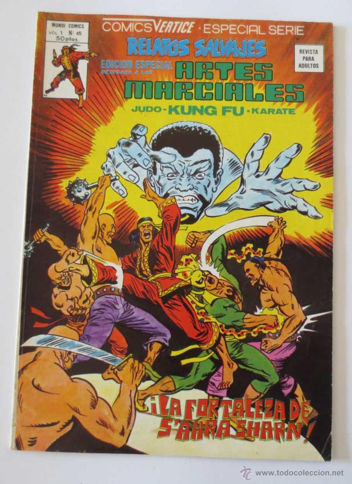 RELATOS SALVAJES ARTES MARCIALES Nº 45 VERTICE (Tebeos y Comics - Vértice - Relatos Salvajes)