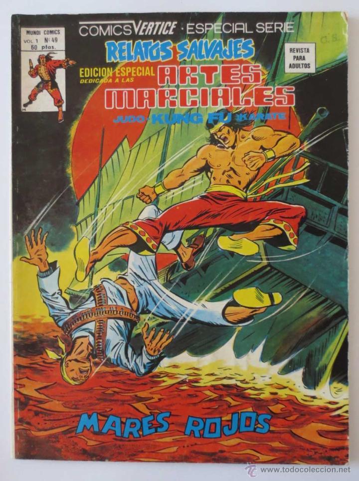 RELATOS SALVAJES ARTES MARCIALES Nº 49 VERTICE (Tebeos y Comics - Vértice - Relatos Salvajes)