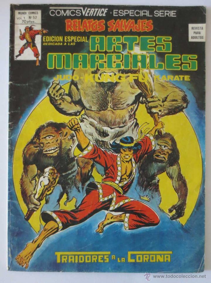 RELATOS SALVAJES ARTES MARCIALES Nº 52 VERTICE (Tebeos y Comics - Vértice - Relatos Salvajes)