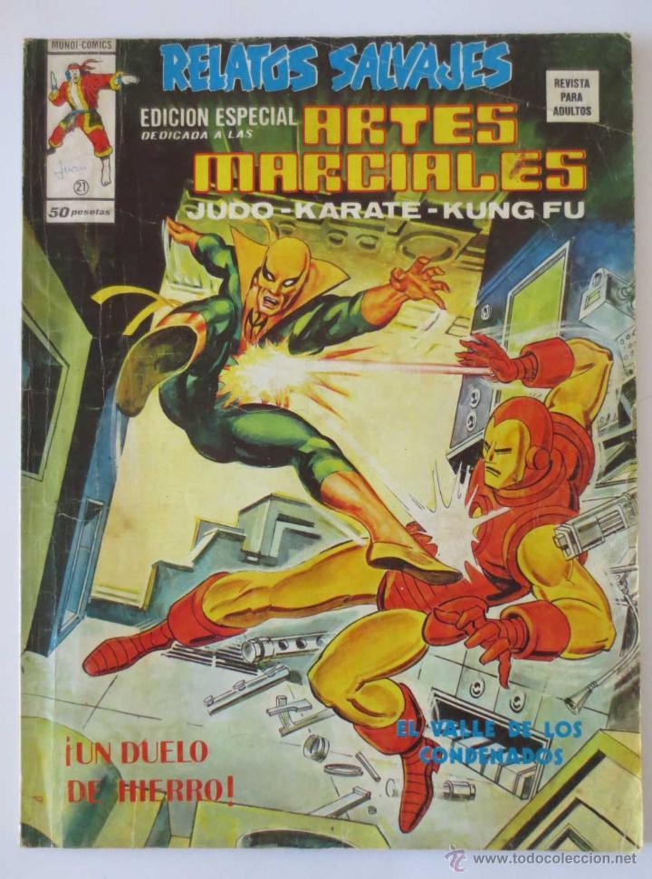 RELATOS SALVAJES ARTES MARCIALES Nº 21 VERTICE (Tebeos y Comics - Vértice - Relatos Salvajes)