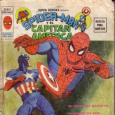 Cómics: COMIC * SPIDER-MAN Y CAPITÁN AMÉRICA *. MUNDI-COMICS VÉRTICE. V. 2/Nº 8. AÑO 1974.. Lote 52477493