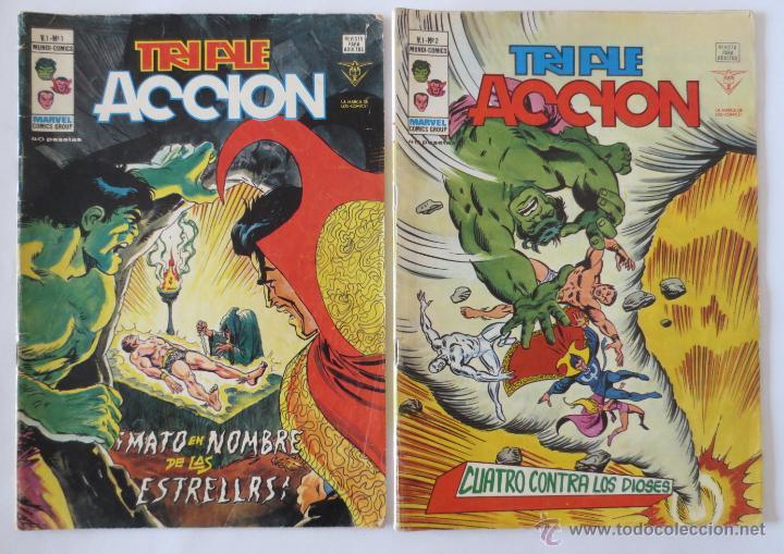 TRIPLE ACCION VOL 1 COMPLETA VERTICE (Tebeos y Comics - Vértice - Super Héroes)