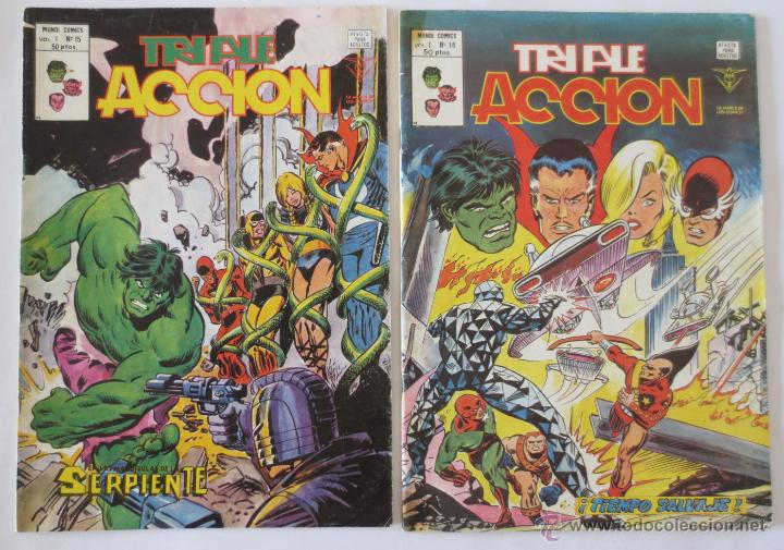 Cómics: TRIPLE ACCION VOL 1 COMPLETA VERTICE - Foto 9 - 52766736