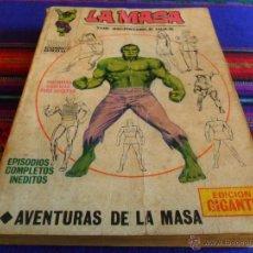 Cómics: VÉRTICE VOL. 1 EDICIÓN GIGANTE LA MASA. 1971. 50 PTS. AVENTURAS DE LA MASA. COMPLETO. MUY DIFÍCIL.. Lote 52993771